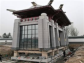 北京富来宫大门平移工程