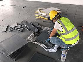 我公司承建中建八局架空活动地板项目进展顺利